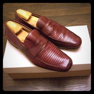 Lizard custom loafers